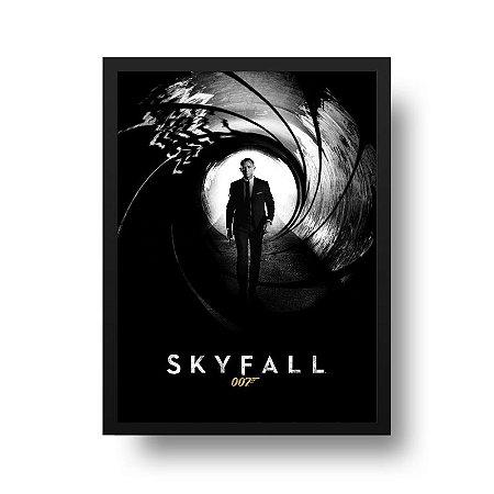 Quadro Poster Decorativo Cinema Filme 007 - James Bond, Skyfall