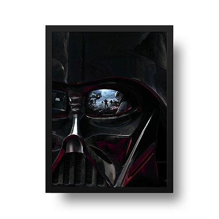 Quadro Poster Decorativo Cinema Filme Star Wars - Darth Vader
