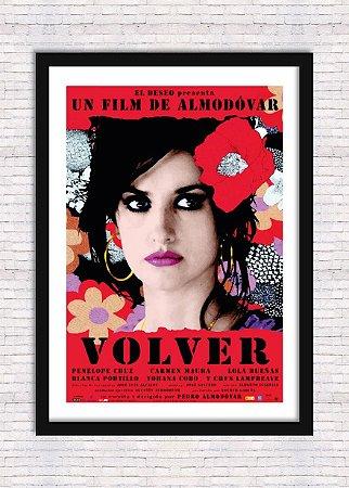 Quadro Poster Decorativo Cinema Filme Volver - Almodóvar, Penélope Cruz