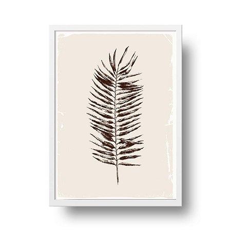 Quadro Poster Botanical - Folha de Palmeira