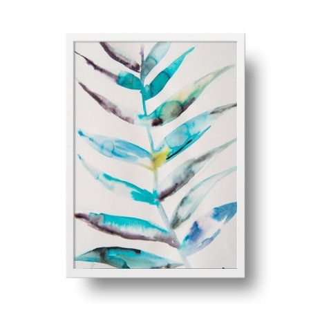 Quadro Poster Decorativo Natureza Planta Papagaio - Colorido Aquarela