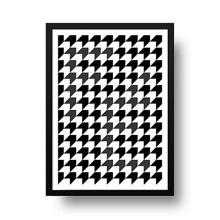 Quadro Poster Decorativo Geométrico Fé - Abstrato, Setas, Preto, Branco
