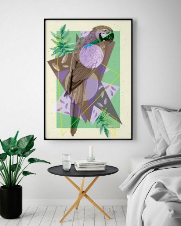 Quadro Poster Lines And Layers - Arara