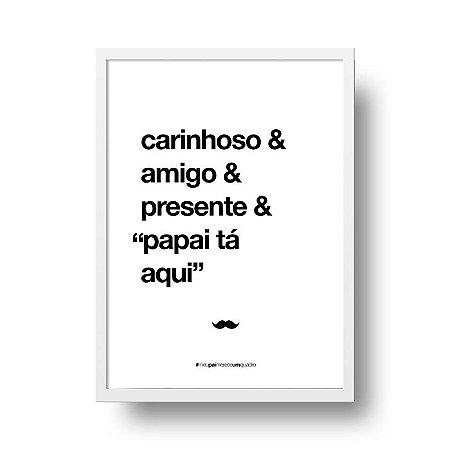 Quadro Poster Decorativo Para Pai Carinhoso - Palavras, Homenagem, Pais