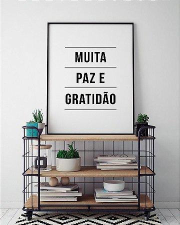 Quadro Poster Paz e Gratidão