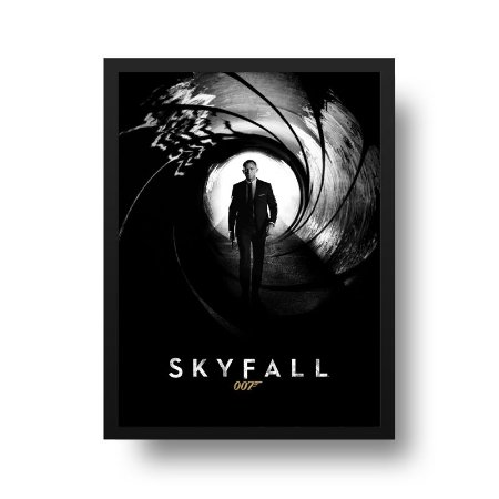 Quadro Poster Decorativo Cinema Filme 007 - James Bond, Skyfall