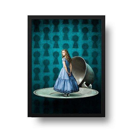 Quadro Poster Decorativo Cinema Filme Alice País Maravilhas - Pires, Xícara