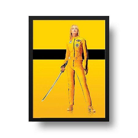 Quadro Poster Decorativo Cinema Filme Kill Bill - Tarantino, Uma Thurman
