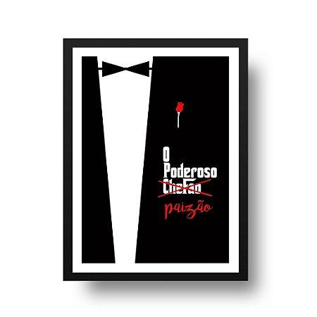Quadro Poster Decorativo Cinema Filme Poderoso Chefão Paizão - Pais