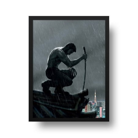 Quadro Decorativo Poster Cinema Filme The Wolverine - Hugh Jackman