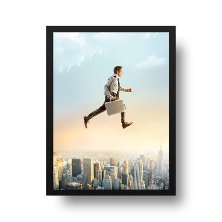 Quadro Decorativo Poster Cinema Filme Walter Mitty - Vida Secreta, Ben Stiller