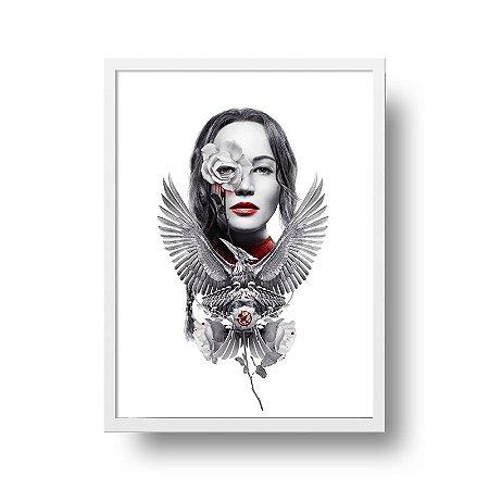 Quadro Decorativo Poster Filme Jogos Vorazes A Esperança Parte 2 - Katniss
