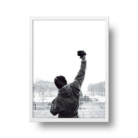 Quadro Poster Decorativo Filme Rocky Balboa - Lutador, Braços Erguidos