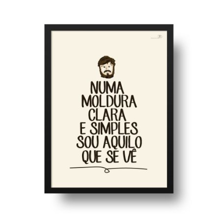 Quadro Poster Decorativo Frase Música Los Hermanos Retrato Pra Iaiá