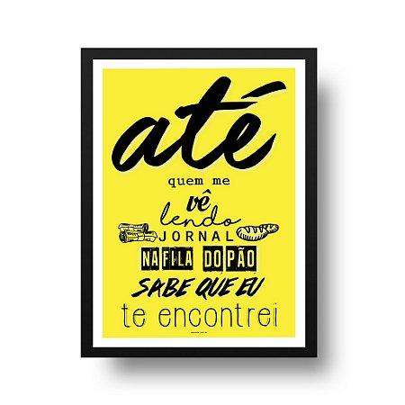 Quadro Poster Decorativo Frase Música Los Hermanos Último Romance