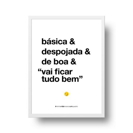 Quadro Poster Decorativo Para Mãe Básica - Palavras, Homenagem, Mães