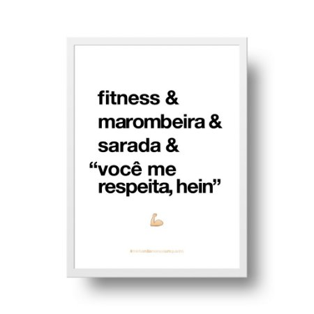 Quadro Decorativo Poster Para Mãe Fitness - Palavras, Homenagem, Mães