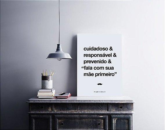 Quadro Decorativo Poster Para Pai Cuidadoso - Palavras, Homenagem, Pais