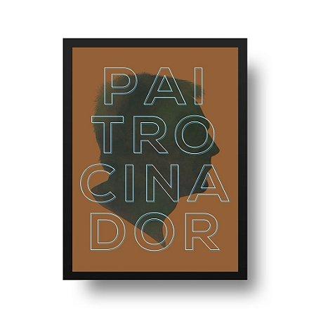 Quadro Poster Decorativo Para Pai Paitrocinador - Palavras, Homenagem, Pais