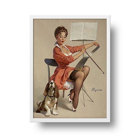 Quadro Decorativo Poster Pin Up Dog Gone Good - Vintage, Retrô, Sexy Girl