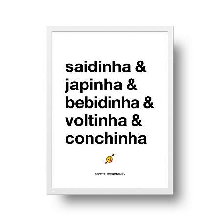Quadro Decorativo Poster Saidinha - Frase, Amor, Namorados, Casal