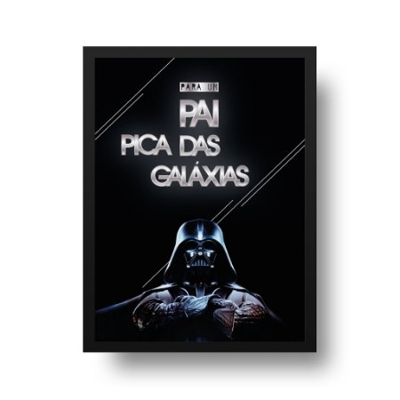Quadro Decorativo Poster Star Wars Darth Vader Braços Cruzados - Frase, Para Pais
