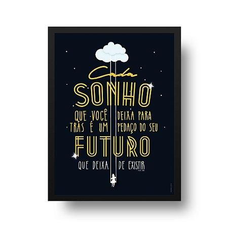 Quadro Poster Sonho - Steve Jobs