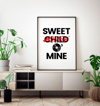Quadro Decorativo Poster Sweet Child (House) O' Mine - Frase, Música, Banda, Rock, Guns N' Roses