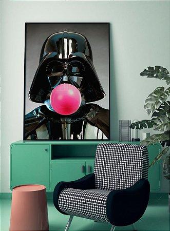 Quadro Decorativo Poster Darth Vader Bola de Chiclete - Filme, Star Wars, Pop Art