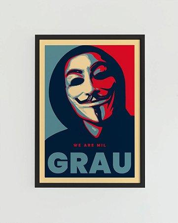 Quadro Decorativo Poster Floripa Mil Grau Máscara - Coleção Limitada