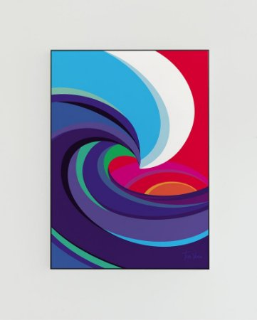 Quadro Decorativo Poster Big Wave Tom Veiga - Surf, Onda, Tubo