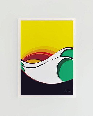 Quadro Decorativo Poster Imbituba Tom Veiga - Surf, Ondas, Mar