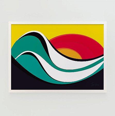 Quadro Decorativo Poster Ipanema Tom Veiga - Surf, Ondas, Rio de Janeiro