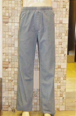 Calça de Elástico Jeans Claro