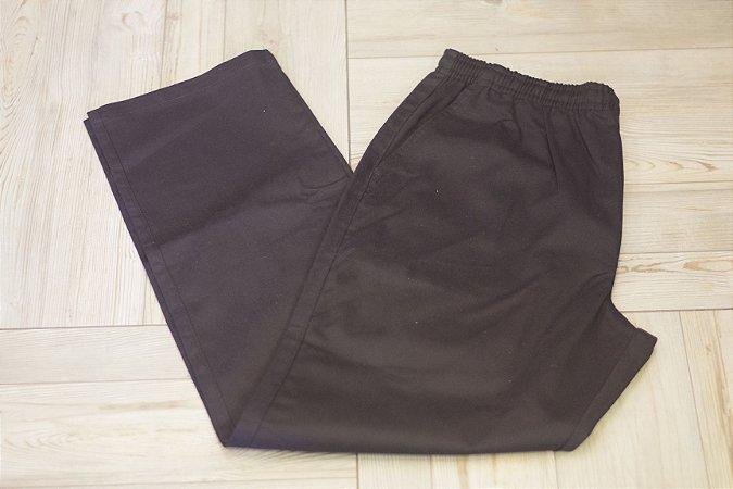 Calça de Sarja com Elástico na cintura Preta