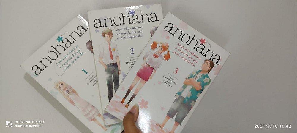 (SEBO) Pacote Anohana - Vol. 1 ao 3