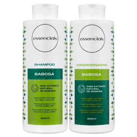 Essencials Kit Shampoo e Condicionador Babosa - (2x800 ml)