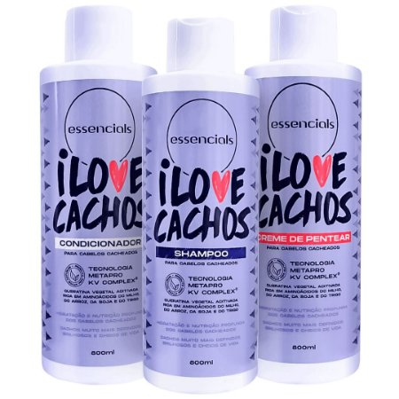 Essencials Kit Trio I Love Cachos - ( 3x 800ml )