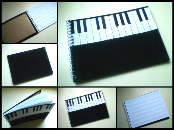 Caderno de música Piano