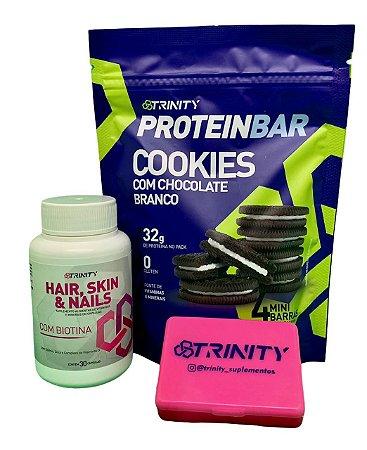 Kit protein bar cookies e Hair Skin Nails