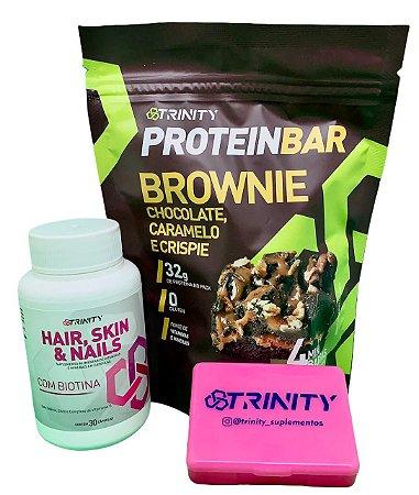 Kit protein bar brownie e Hair Skin Nails