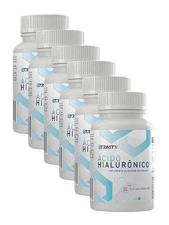 Ácido hialurônico 30 capsulas cada - Kit 6 meses
