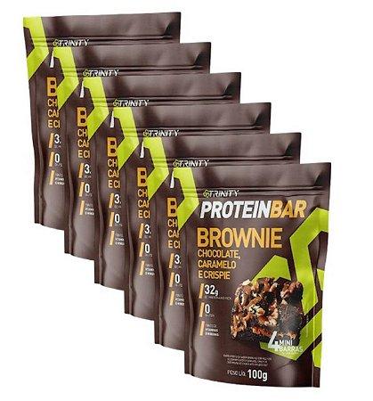 Kit 6 protein bar brownie