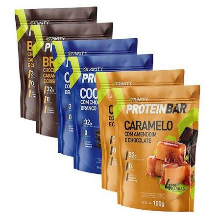 Kit 6 protein bar mix de sabores