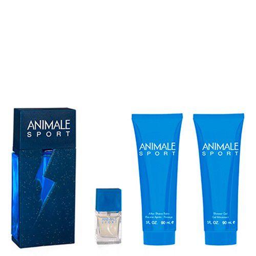 Animale Sport Edt 100ml + Miniatura 7,5ml + Bálsamo Pós Barba 90ml + Gel de Banho 90ml