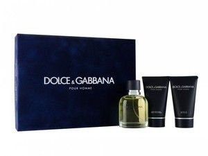 Kit Dolce&Gabbana Pour Homme Edt Perfume 125ml + After Shave Balm 50ml + Shower Gel 50ml