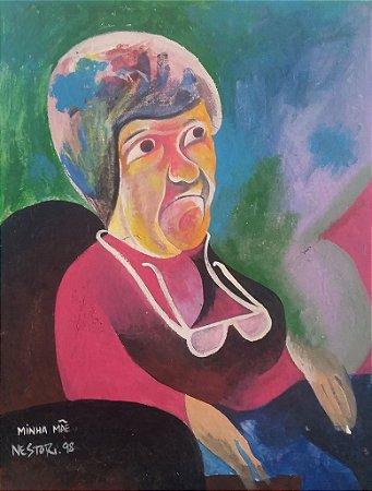 Dona Lúcia, mãe do artista