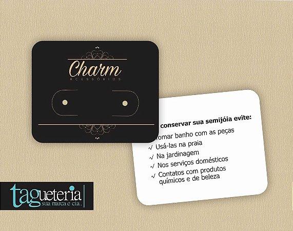 8351f9acd4 Tag   Cartela para Brinco Personalizada – Tagueteria Sua Marca   Cia ...
