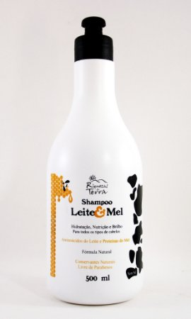 Shampoo Natural Leite & Mel 500 ml