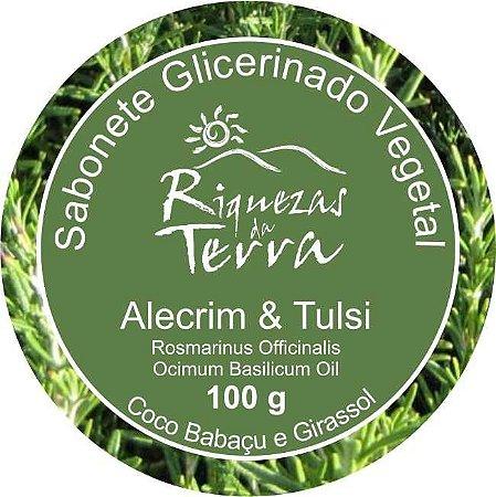 Sabonete Glicerinado Vegetal Alecrim e Tulsi
